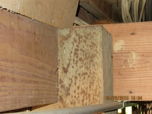 unsecured foundation to home